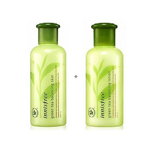 Innisfree Green Tea Balancing Skin Care Set Skin200mllotion160ml You Can Get Additional Details At The Image Link Th Skin Tea Skin Balancing Skincare Set