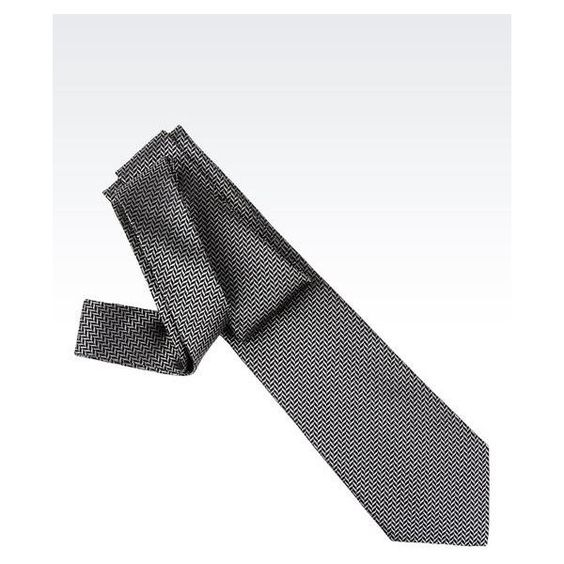 EMPORIO ARMANI Tie In Micro Patterned Silk (970 NOK) ❤ liked on Polyvore