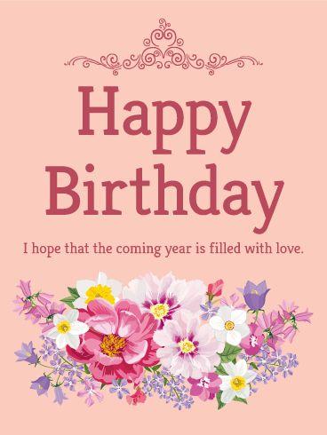 Stunning Flower  Birthday Card: