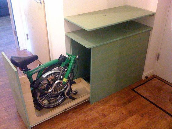 Filing cabinet fully extended to get Brompton out | Flickr - Photo Sharing!