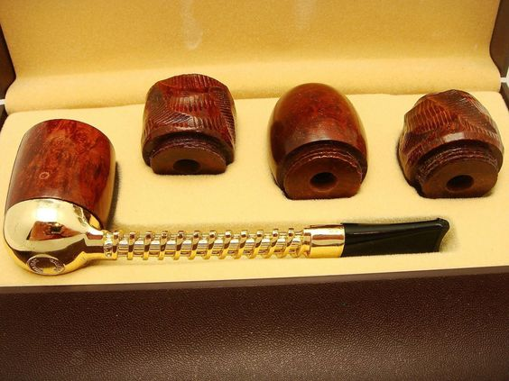 Vintage Kentucky Club Interchangeable Bowl Smoking Pipe Set UNSMOKED in Box | eBay