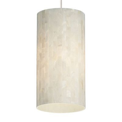 Tech Lighting Playa Drum Pendant Base Finish Chrome, Shade Color