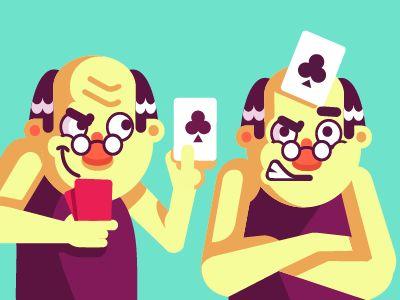 Card game app characters by Samir Taiar