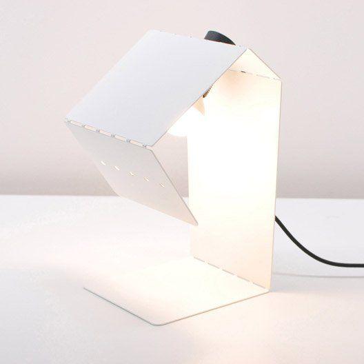 Lampe Teruki Inspire Metal Blanc Blanc N 0 40 W Lampe Salon Lamp Lampe De Chevet