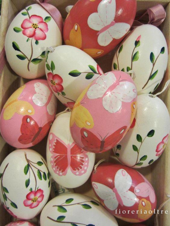 Fioreria Oltre/ Easter/ Hand painted goose eggshells