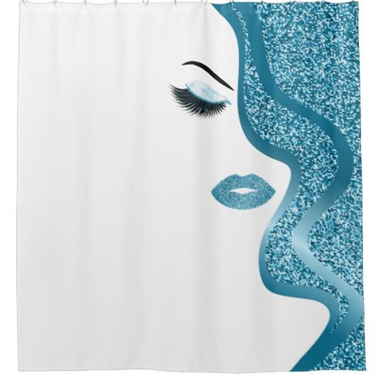 Makeup With Glitter Effect Shower Curtain Zazzle Com Glitter