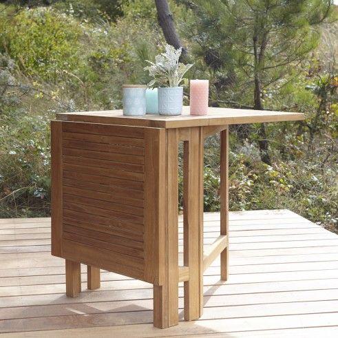 Table Pliante En Teck 130 X 65 Cm Mobilier Pour Le Jardin Tikamoon Table De Jardin Pliable Table De Jardin Table De Jardin Bois