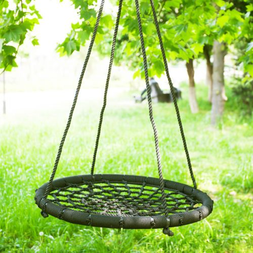 100cm Garden Swing Seat Round Swing Garden Hammock Hanging Chair 200kg Load  | Backyard | Pinterest | Garden Swing Seat, Garden Hammock And Hanging  Chairs