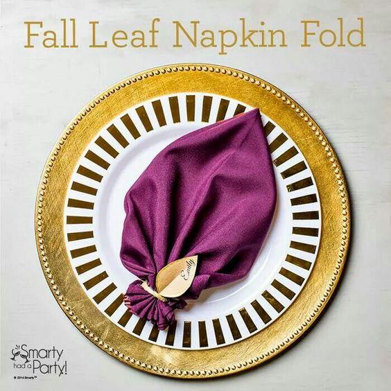 Fall leaf napkin