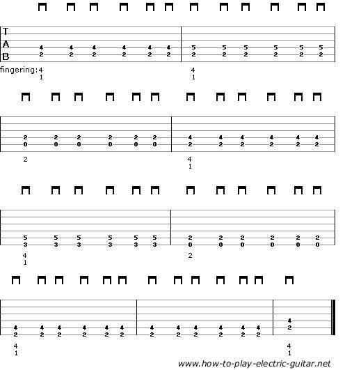 Guitar u00bb Guitar Tabs Electric - Music Sheets, Tablature, Chords and Lyrics