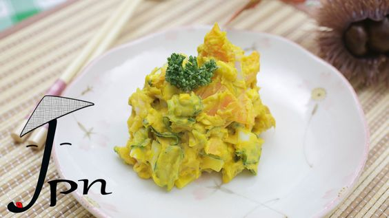 Como fazer salada de kabotya (かぼちゃサラダ)