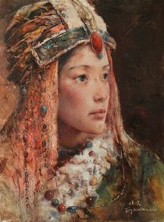 Tang Wei Min 唐伟民 (b1971). The Chinese managed to keep silk a secret for over 1000 years. However, in 550AD the secret of silk became known to other countries when 2 monks from the Byzantine Empire managed to smuggle some silkworm eggs out of the country. They hid the eggs inside of their bamboo walking sticks.