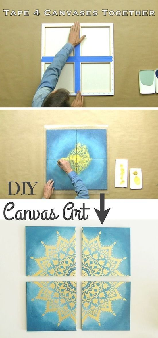 Cool Art Project For Teens Easy Diy Canvas Painting Idea The Coolest Wall Art Easy Diy Craft Ideas For A Diy Canvas Art Cool Art Projects Easy Art Projects