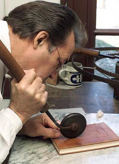 Leather tooling at Colonial Williamsburg Wouldn't that be something to have