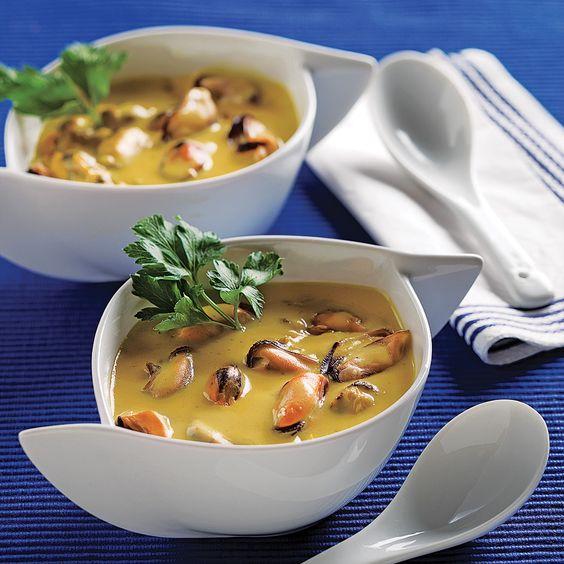 Chaudrée de moules et de palourdes au safran - Recettes - Cuisine et nutrition - Pratico Pratique
