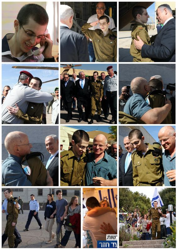 Gilad Shalit returned to Israel, returned home! So exciting! Am Israel Chai!