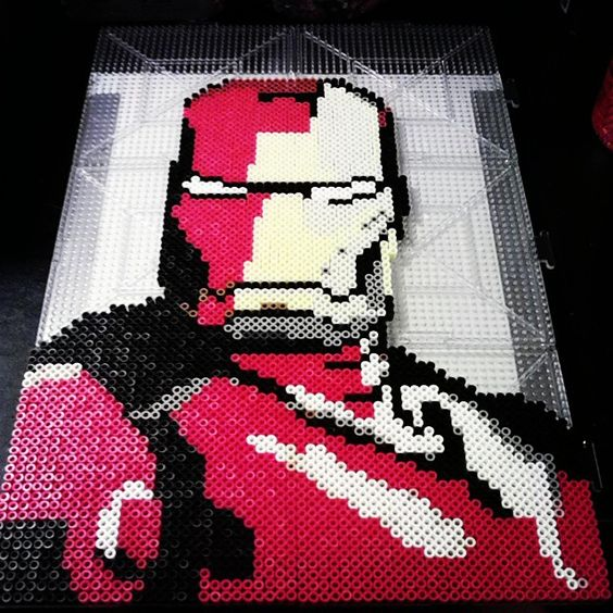 Iron Man perler beads by inariswhimsy