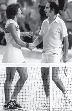 Billie Jean King, Bobby Riggs - this was such a big deal in the '70's - Battle of the Sexes
