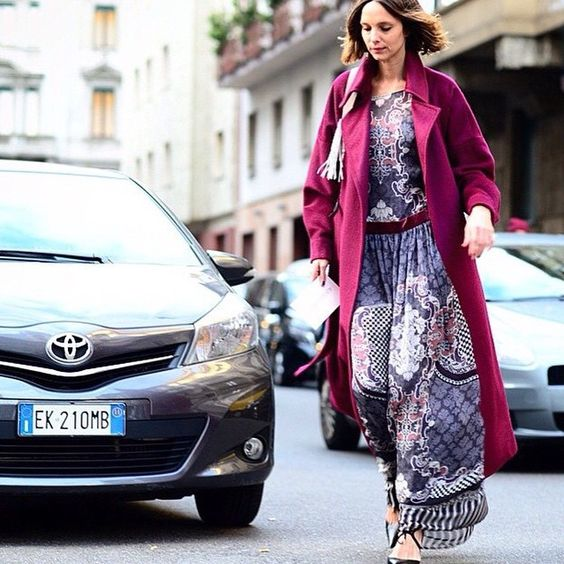 «Elegant and chic #CandelaNovembre wearing #albertaferretti during #mfw»