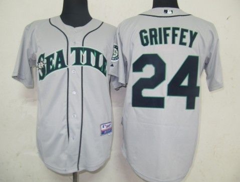 classic fit b7e15 3bfcd seattle mariners ken griffey 24 grey authentic jersey sale