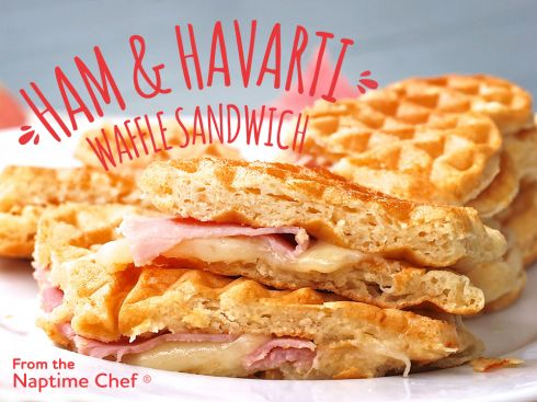 The Havarti & Ham Waffle Sandwich with @arlausa !