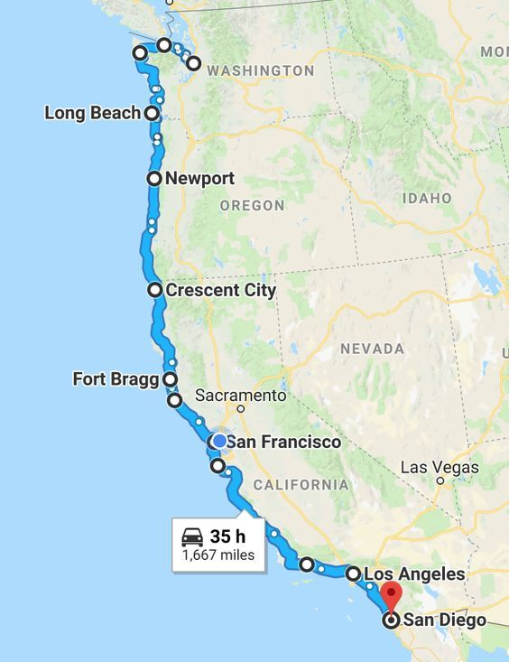 map pacific coast highway The Ultimate Pacific Coast Highway Road Trip Guide Pacific Coast map pacific coast highway