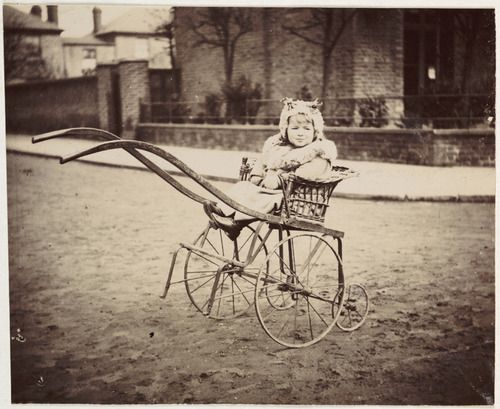 Young girl in a pram, c. 1897, unknown photographer © National Media Museum