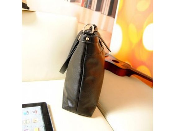 Simple Black Cross Shoulder Bag