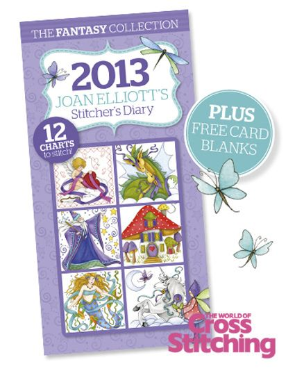 Fab FREE gift, cross stitcher's diary2013 by The World of Cross Stitching, via Flickr