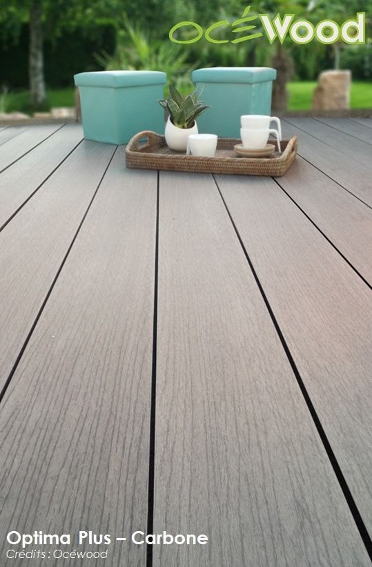 bois composite Optima Plus Carbone par Ocewood®  Terrasses Ocewood