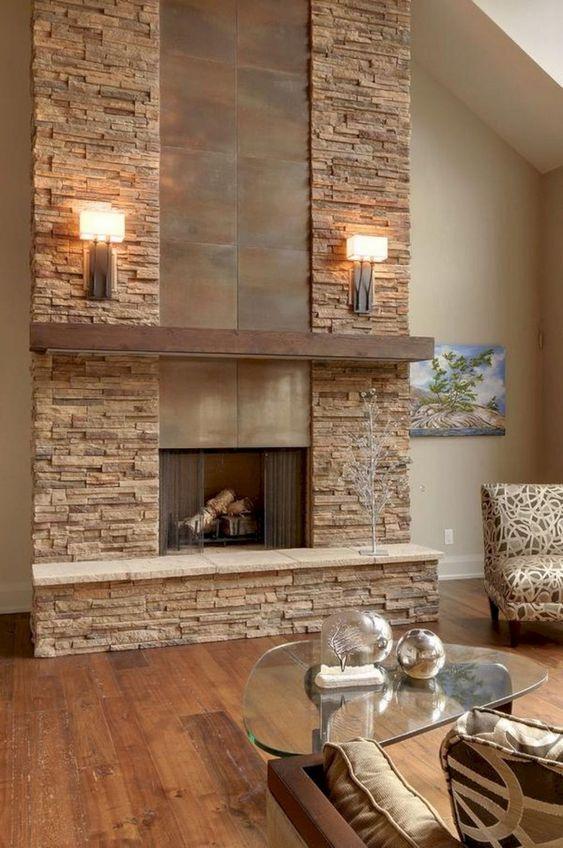 50 Modern Fireplace Ideas Best Contemporary Fireplaces 2021 Edition Modern Fireplace Stone Walls Interior Stone Fireplace Designs Living room fireplace ideas 2021