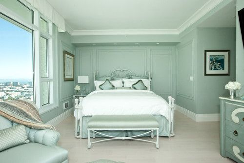 Bedroom, The Wonderful Design Of Bedroom With The Blue Wall Also The