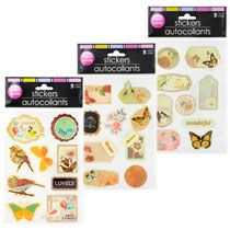 Hand-Made Bird and Butterfly Stickers, 9-ct. Packs