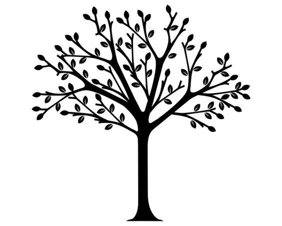 Tree Drawings Black And White Clip Art E20 Wisdom
