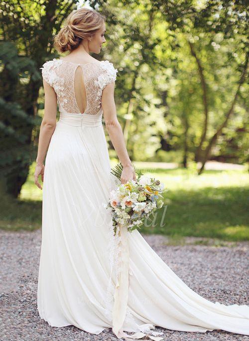 ... / Outdoor Nein Frühling Sommer Herbst Elfenbein Weiß Brautkleid