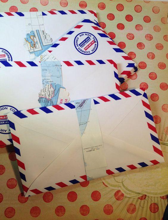 100 enveloppes de courrier aérien avion Par Avion par TheBrownPear