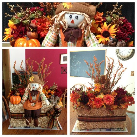 Fall Autumn Haystack Decoration. This Was A Fall