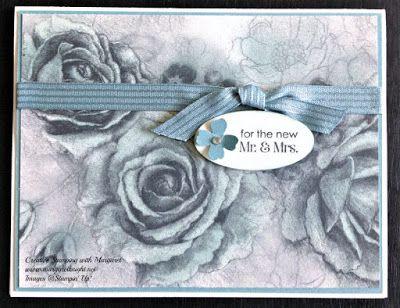 Wedding Card using Stampin' Up! Timeless Elegance Designer Series Paper & Lost Lagoon