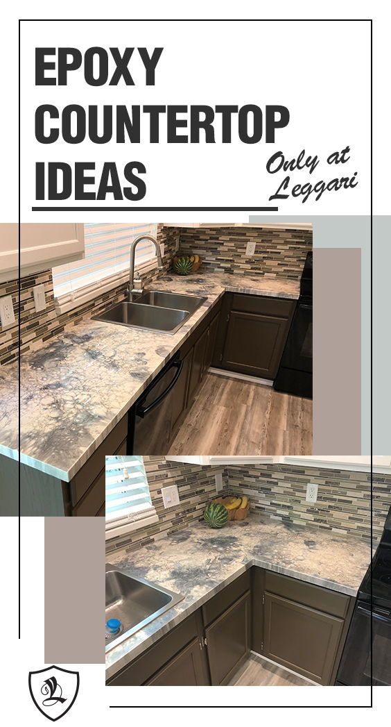 Diy Metallic Epoxy Countertops Remodeled Using Leggari Products