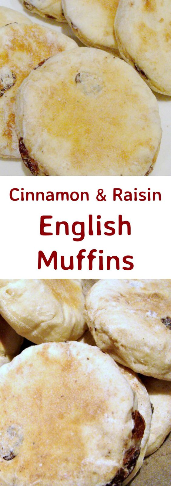 Cinnamon & Raisin English Muffins - Delicious opened and served warm ...