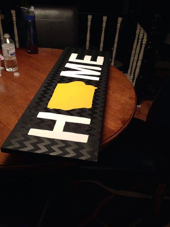 Custom Iowa HOME sign by IowaAquaOwl on Etsy