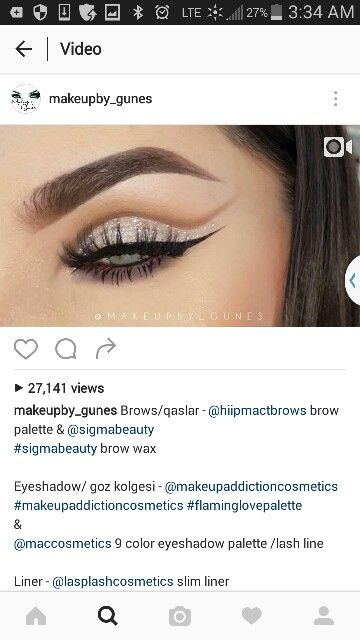 Dramatic makeup eyeshadow