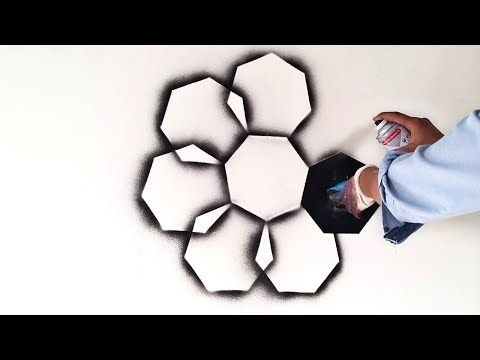 Heptagon Shape Creative Spray Design Ideas For Interior Youtube Wall Paint Designs 3d Wall Painting Heptagon