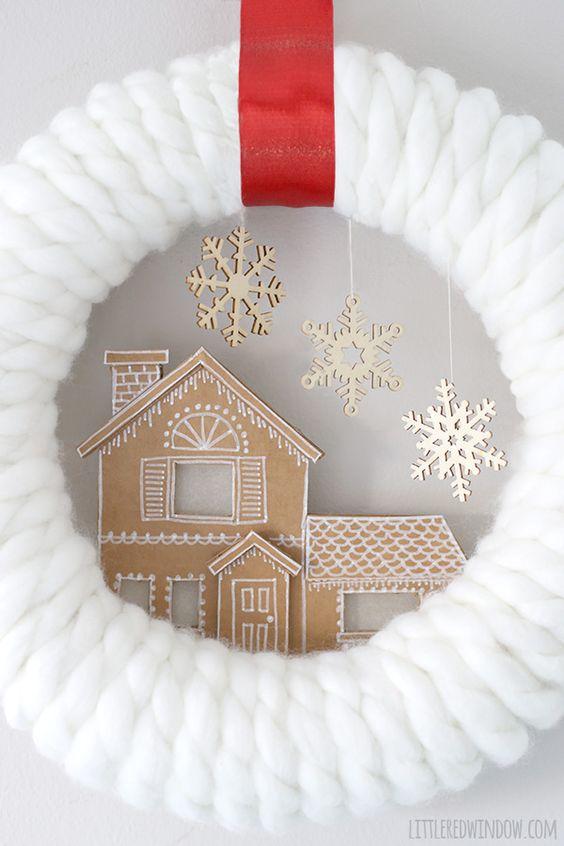Cartón Pan de la Casa de la guirnalda, tan lindo para la Navidad!  |  littleredwindow.com