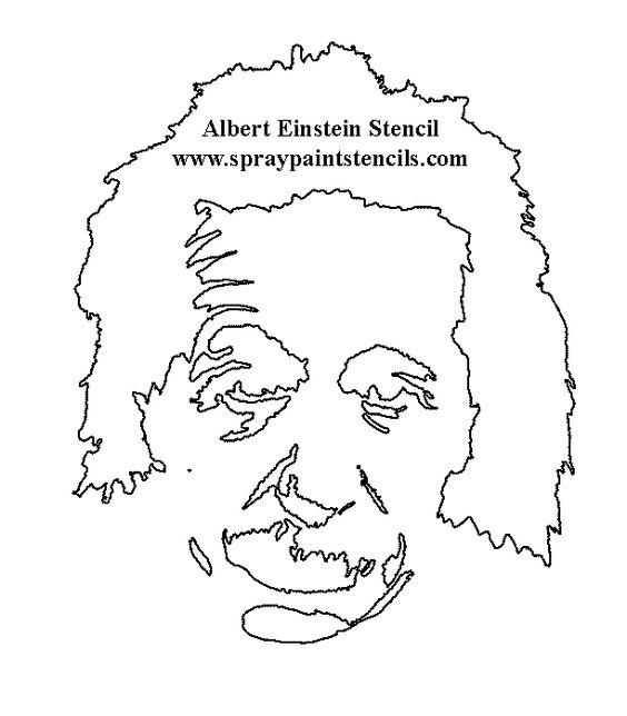 free people stencils page 3 albert einstein stencil