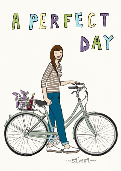 A perfect day, custom illustrated