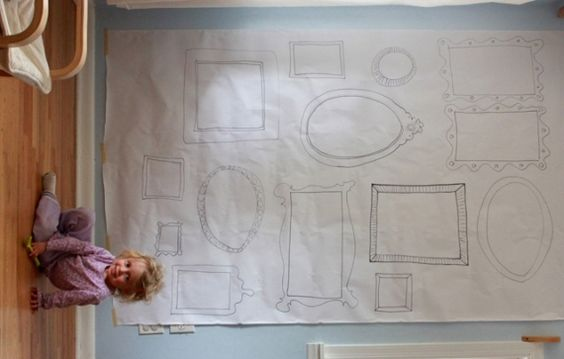 DIY Frame Wallpaper for Kids Art