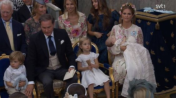 Princess Madeleine of Sweden's baby daughter Princess Adrienne is christened – all the photos