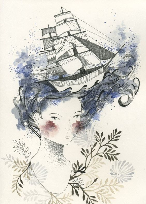 Waiting for the Tide - Print by Cathrine Campbell: