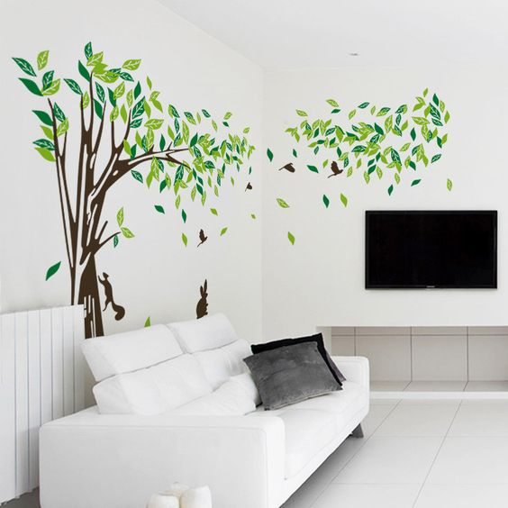 Living room Wall decals-Bedroom wall sticker-TV background wall decal